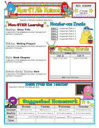 classroom newsletter template newsletter template classroom