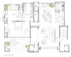 Open Kitchen Living Dining Room Floor Plans - open floor plan penthouse interior design by aj architects