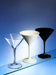 martini black black u0026 white martini cocktail glasses in unbreakable plastic uk