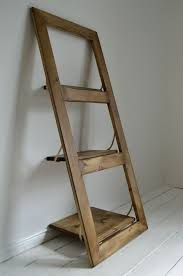 details about wooden hand made ladder wall shelf door shelf shabby chic leaning wall shelf