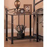 amazon com metal nightstands bedroom furniture home u0026 kitchen