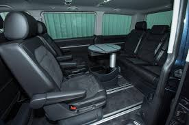 volkswagen inside inside the rear cabin of the spacious volkswagen caravelle t6