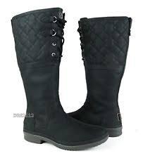 s ugg australia black elsa boots ugg australia fur zip boots for ebay