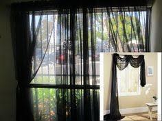 Black Scarf Valance Black Scarf Sheer Voile Window Treatment Curtain Drapes Valance