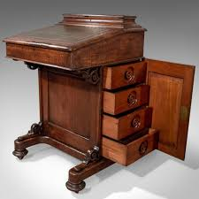 bureau writing desk antique davenport oak writing desk bureau circa