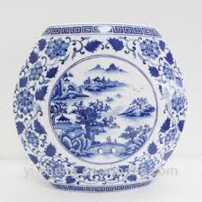 Hand Painted Chinese Vase Antique Chinese Style Hand Painted Blue And White Flower And