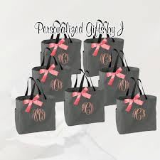 personalized bags for bridesmaids 10 personalized bridesmaid tote bags monogrammed tote