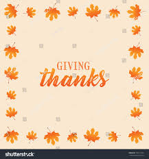 happy thanksgiving text vector background leaves stock vector