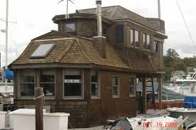 a really cool woods hole ma houseboat floating home u2026 woods