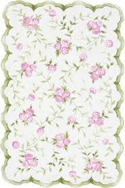 Green Area Rug Market Floral 31033 Sweet Pink Green Area Rug