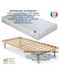 rete con materasso offerta rete ortopedica con materasso ortopedico in memory singolo