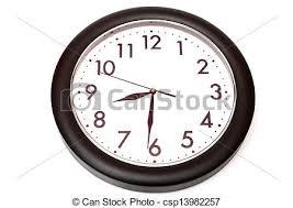 horloge bureau blanc arrière plan noir horloge bureau images de stock