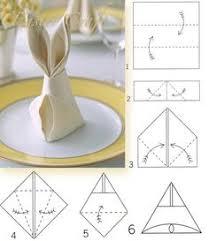 bunny fold for napkins napkins easter and bunny