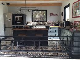 bistrot et cuisine meuble cuisine bistrot related article du bleu canard dans une