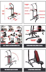 9 in1 power tower knee raise chin up station dip pull up weight