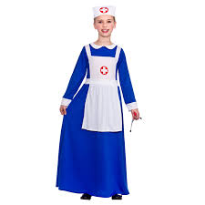 girls wartime nurse fancy dress up party costume halloween child