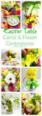flower centerpieces easter table carrot flower centerpieces