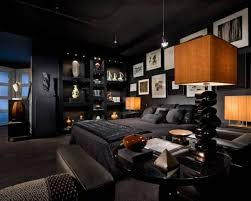 masculine bedroom black wall paint black wall paint for house