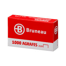 bruneau materiel bureau agrafes bruneau 26 6 galvanisées boîte de 1000 agrafes de bureau