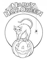 happy halloween free printable pumpkin coloring pages kids