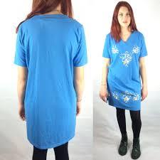 80s oversize tshirt dress vintage floral long t sh retruly