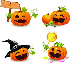 happy halloween template with evil pumpkins free vector free