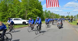 police unity tour riders visit the edison municipal complex