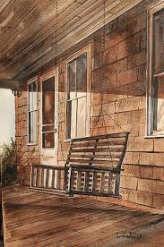 porch swing painting by bill dinkins
