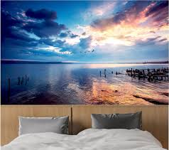 online get cheap photography wall murals aliexpress com alibaba 3d room wallpaper custom photo sunset sky water photography landscape decor painting 3d wall mural wallpaper