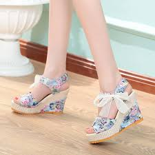 ribbon wedges ready stock ribbon high heeled shoe end 10 20 2018 2 15 pm
