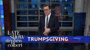 the late show with stephen colbert thanksgiving and