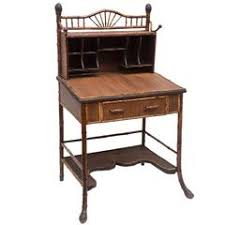 English Campaign Desk 19th Century English Campaign Style Desk With A Faux Tortoise