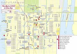 map of new york city with tourist attractions maps of new york top tourist attractions free printable