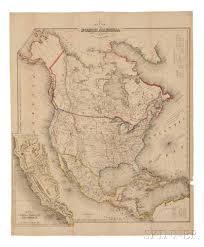 Map Of North America Map by North America California Texas Gold Rush John Calvin Smith Fl