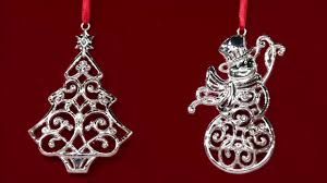 lenox set of 6 silver plated sparkle scroll ornaments on qvc