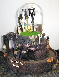 Pinterest Halloween Cakes Nightmare Before Christmas Halloween Town Snow Globe Nightmare