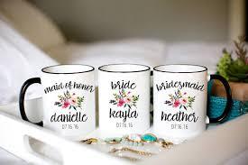 custom bridesmaid mugs custom bridesmaid cups custom wedding - Bridesmaid Cups