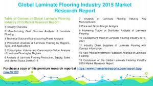 analysis of laminate flooring production supply sales and market st