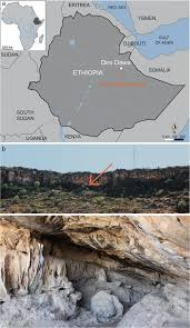 Map Of Ethiopia Fig 1 Location Of Porc Epic Cave A Map Of Ethiopia With