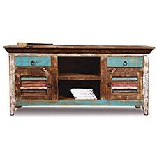 Credenza Tv Amazon Com Distressed Reclaimed Solid Wood Credenza Tv Stand