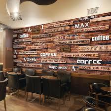 wallpaper coffee design 3d wallpaper vintage coffee wood grain mural restaurant cafe modern