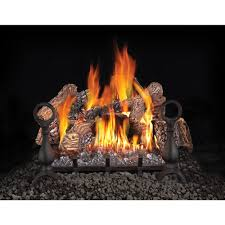 18 vented gas fireplace logs gas logs the home depot