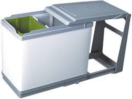 poubelle cuisine poubelle tri sélectif coulissante sur rail 27l accessoires de cuisine