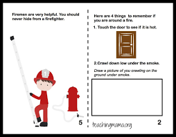 fire safety writing paper fire safety week fire safety booklet