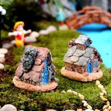 amazon com trasfit 4 pieces miniature fairy garden stone house