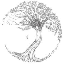 tree of drawing on canvas for decoration cozyhouze com