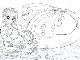 coloring pages realistic mermaid coloring pages download and