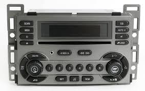 pontiac torrent 2006 grey radio am fm 6 disc cd player w aux input