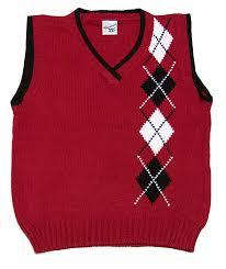 glorimont boys red black white argyle v neck sweater vest