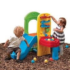 step2 busy ball play table amazon com step2 play ball fun climber with slide for